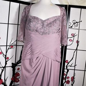 COCKTAIL LACE DRESS MULBERRY 20W NWT